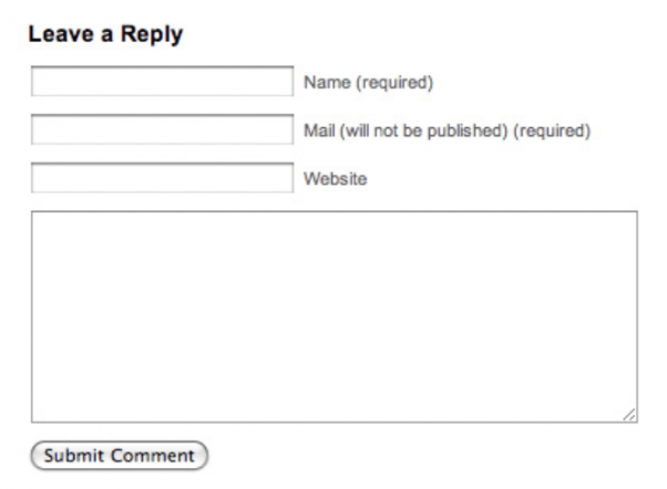 The comment submission box must have a field to add your website.