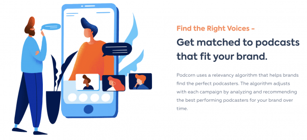 Podcorn gives brands the ability to run native podcast ad campaigns at scale.